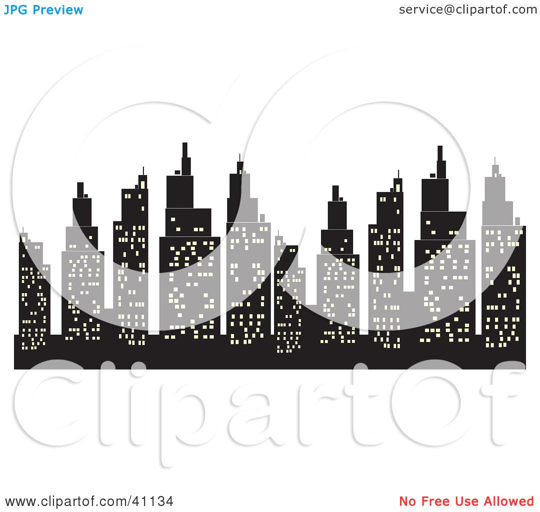 Hd city lights clipart.