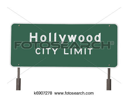 Pictures of Hollywood City Limits Sign k6907278.