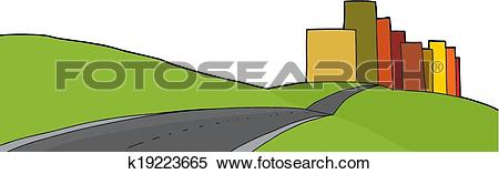 Clipart of Isolated City Limits k19223665.
