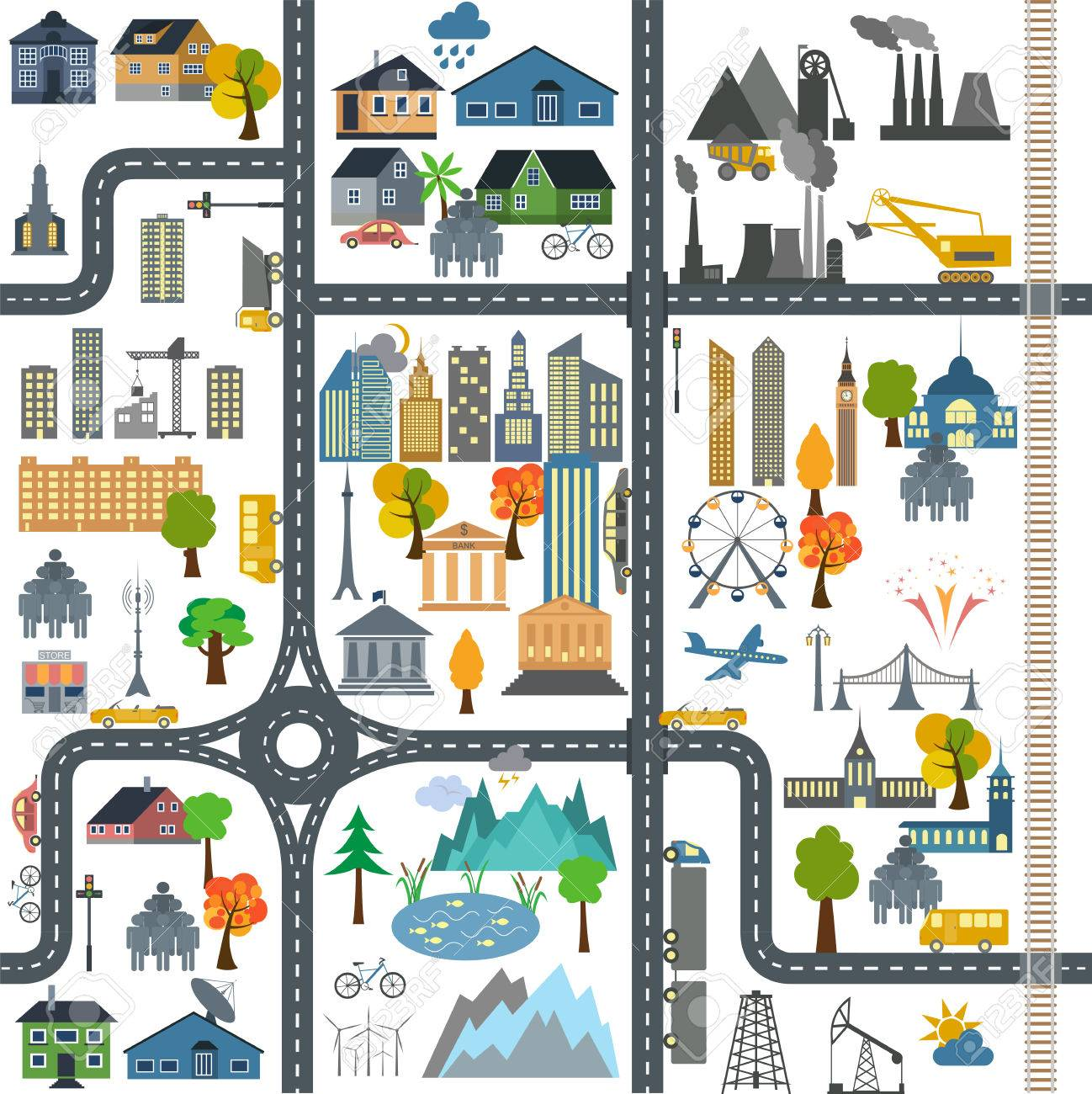 Map Clipart city map 6.