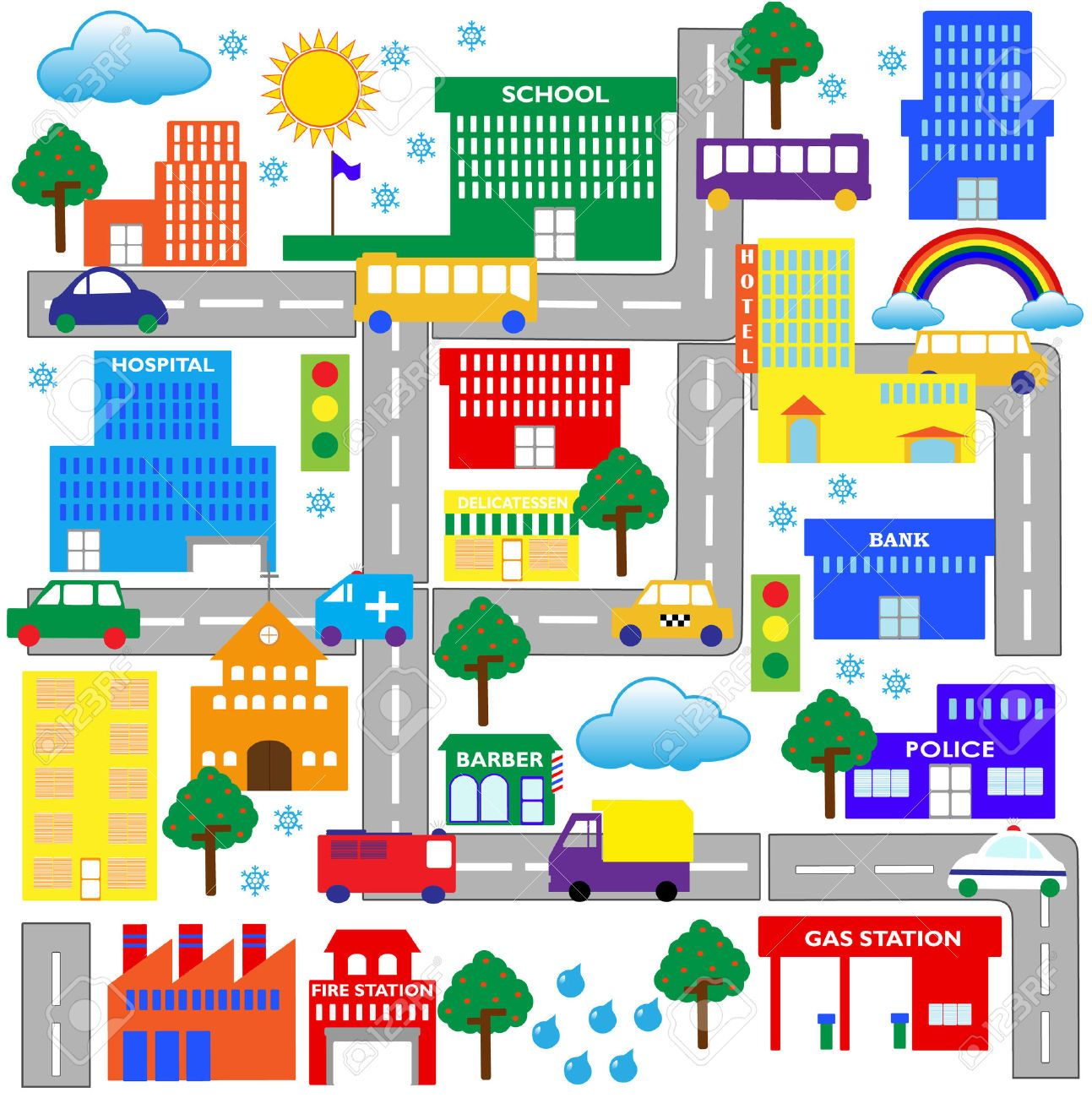 City Map Clipart.