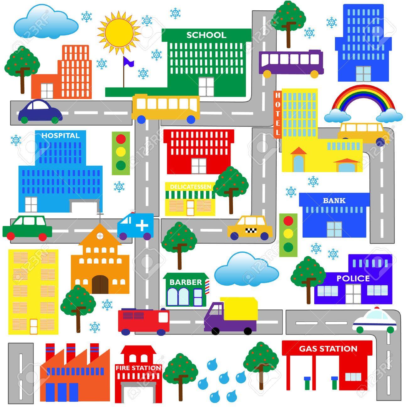 City Map Clipart.