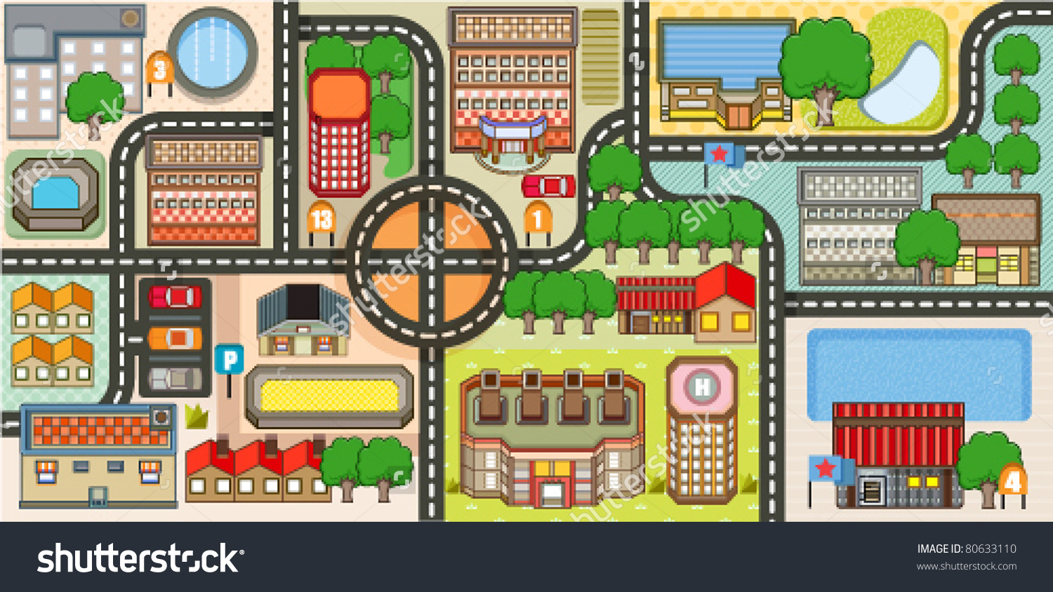 City map clipart 3 » Clipart Station.