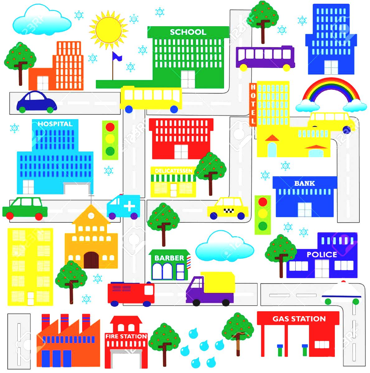 City map clipart 4 » Clipart Station.