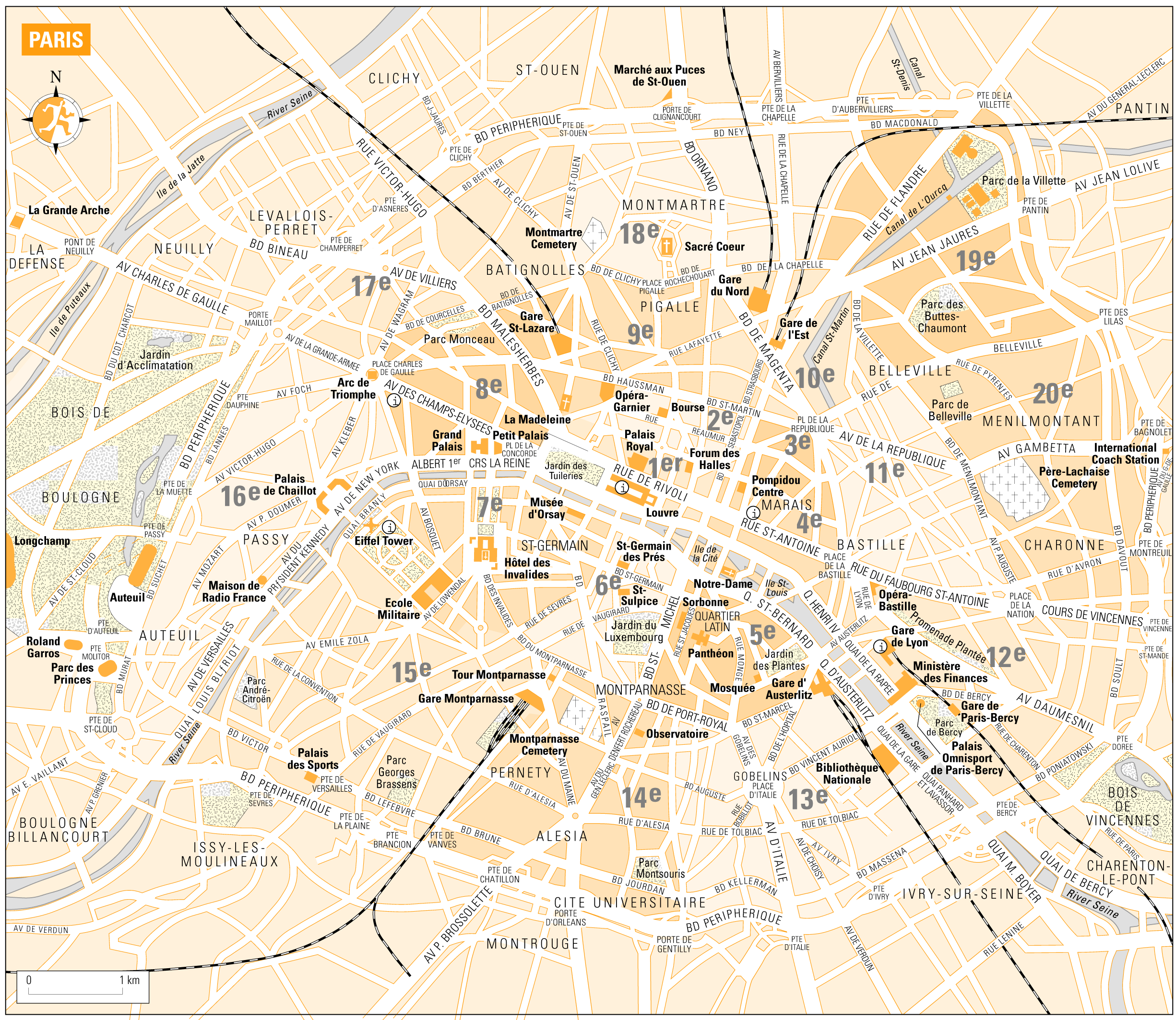 Paris City Map • Mapsof.net.