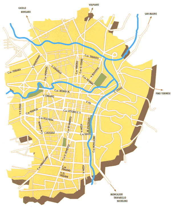 City Map Turin • Mapsof.net.