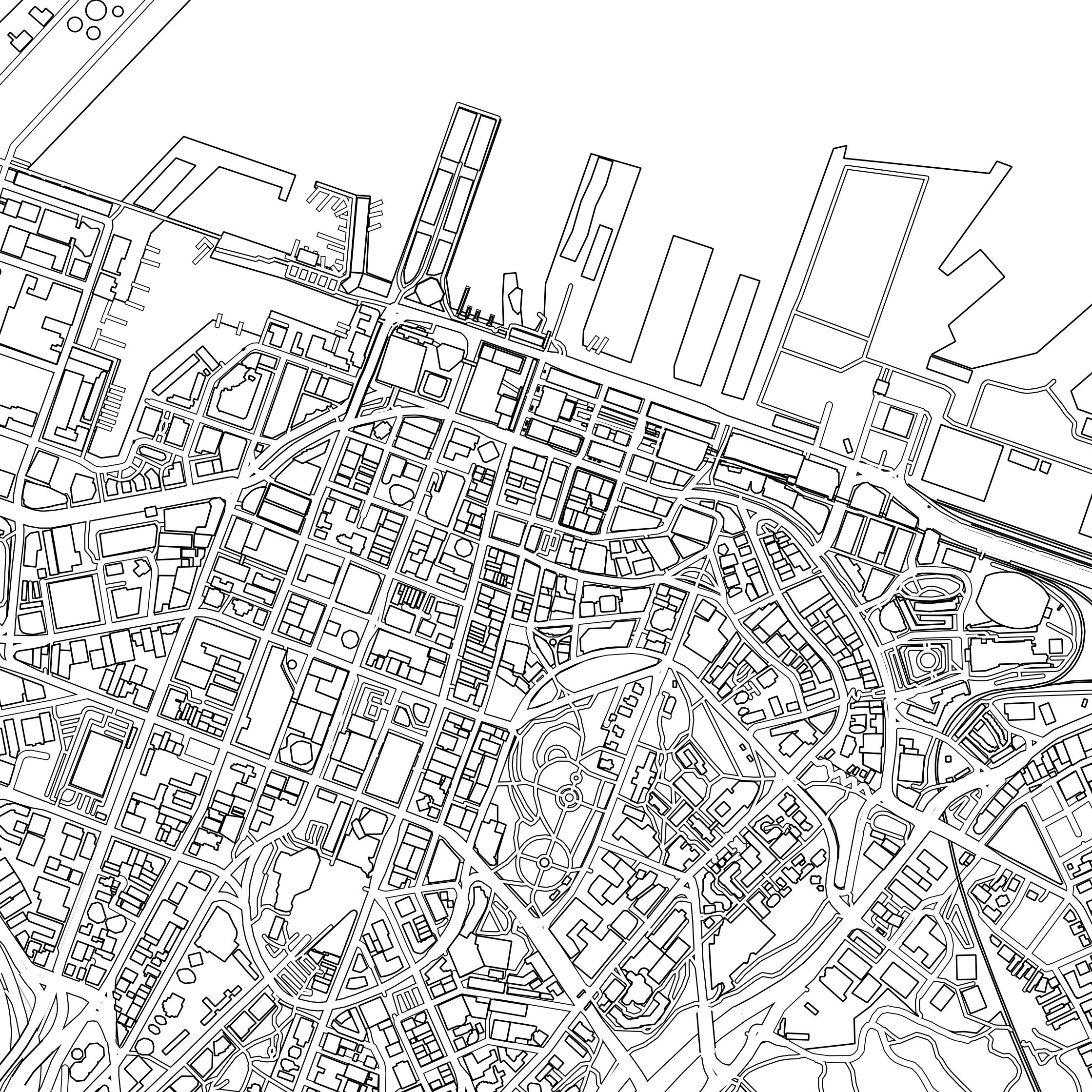 NZ City Colouring Maps.
