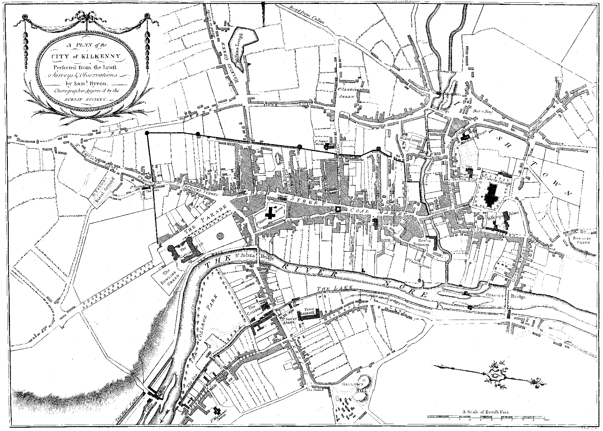 File:Small Kilkenny city map circa 1780 (2006.