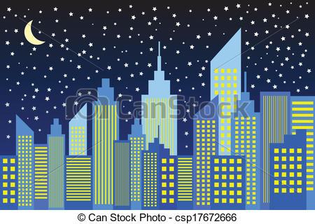 City night clipart.
