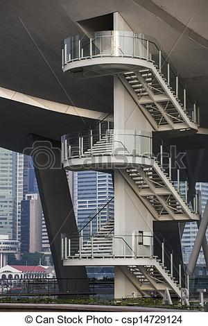 Stock Photo of Singapore Science museum stairs csp14729124.