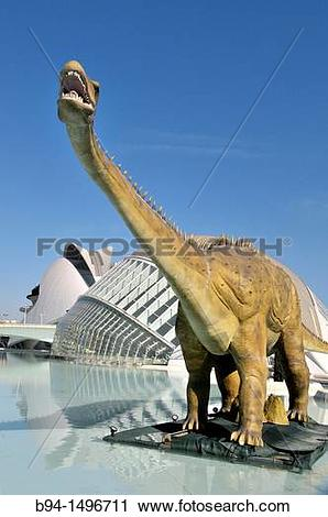 Stock Photography of City of Arts and Sciences by Santiago.