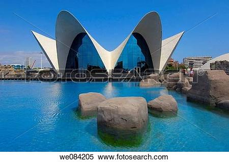 Stock Image of Oceanografic (aquarium), City of Arts and Sciences.