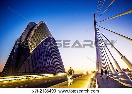 Stock Photograph of El Pont de l?Assut de l?Or and L?Agora, in.