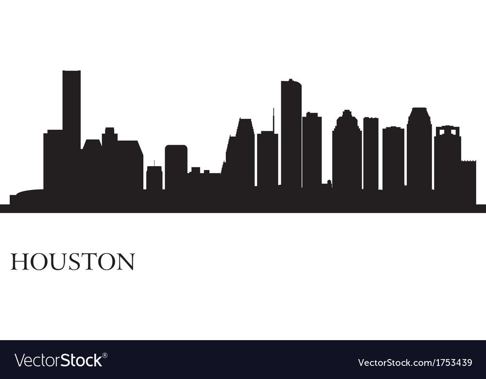 Houston Skyline Silhouette.