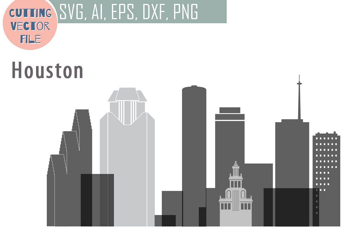 Houston Vector, Texas Skyline USA city, SVG, JPG, PNG, DWG, CDR, EPS, AI.