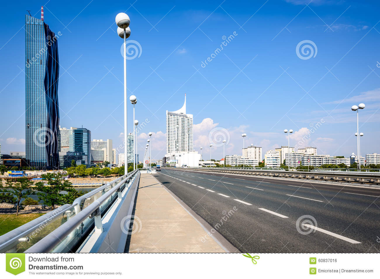 Danube City, Vienna, Austria Stock Photo.