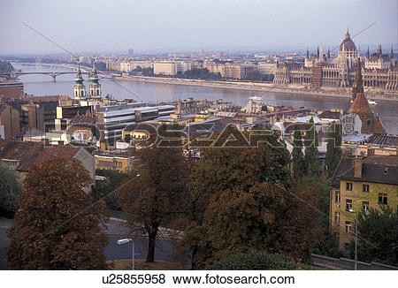 Pictures of Budapest, Hungary, Danube, Europe, Scenic aerial view.