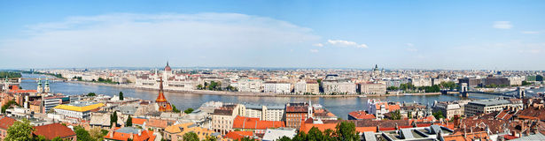 Aerial View Of Danube River And Budapest City Stock Photo.