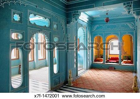 Stock Photography of Zenana Mahal or queen's chambers ,City Palace.