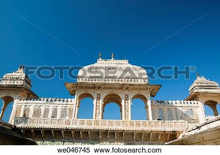 Stock Image of City Palace. Udaipur. Rajasthan. India. we046745.