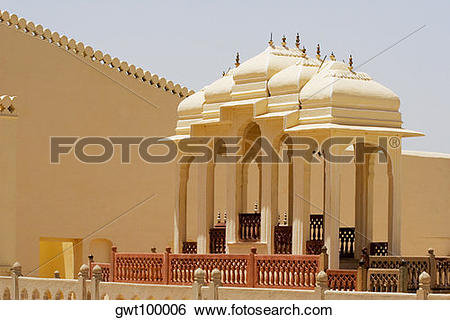 Stock Images of Gazebos in a palace, City Palace Complex, City.