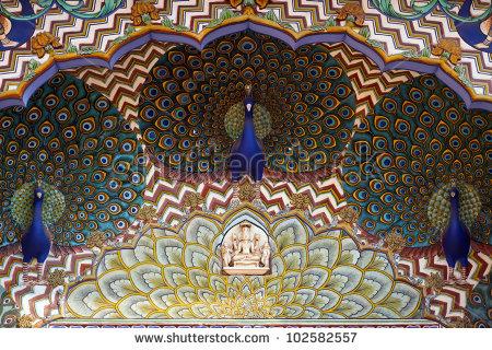 Art Work City Palace Jaipur Rajasthan Stock Photo 102582557.