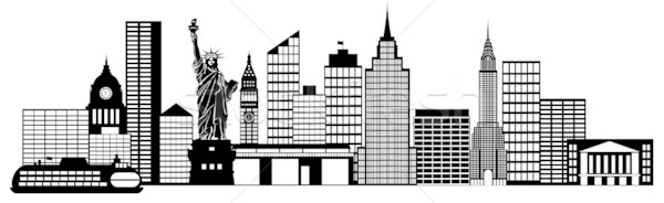 New York City Skyline Panorama Clip Art stock photo © Jit Lim.