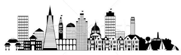 San Francisco City Skyline Panorama Clip Art stock photo © Jit Lim.