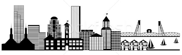 Portland City Skyline Panorama Clip Art stock photo © Jit Lim.
