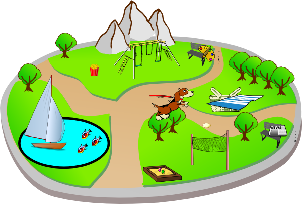 City Park Clipart.