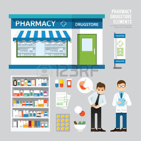 2,957 Medical Store Stock Vector Illustration And Royalty Free.