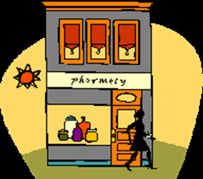 Pharmacy Store Clipart.