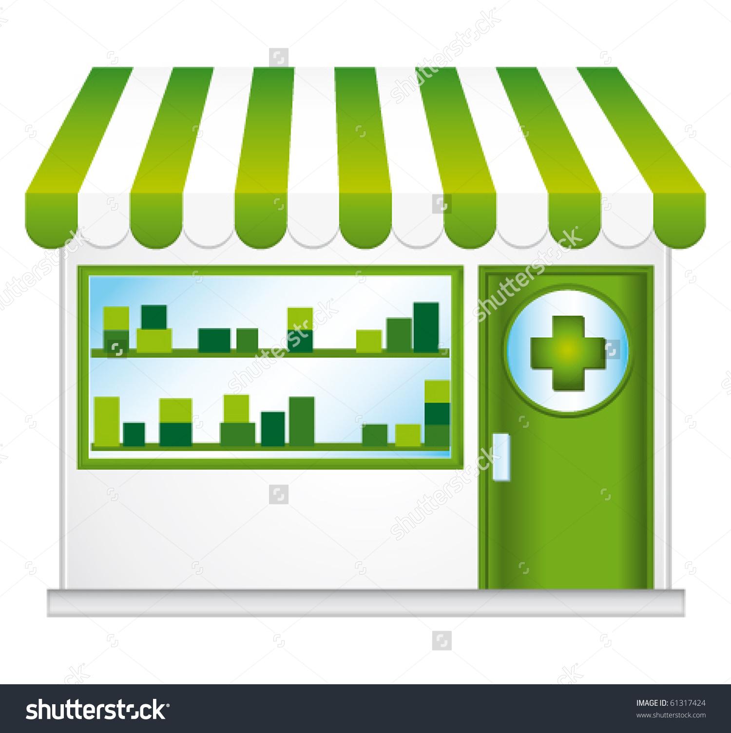 Pharmacy Vitrine Vector Illustration Stock Vector 61317424.
