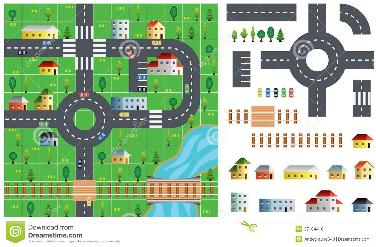 City Map Toolkit Vector Illustration Stock Vector.