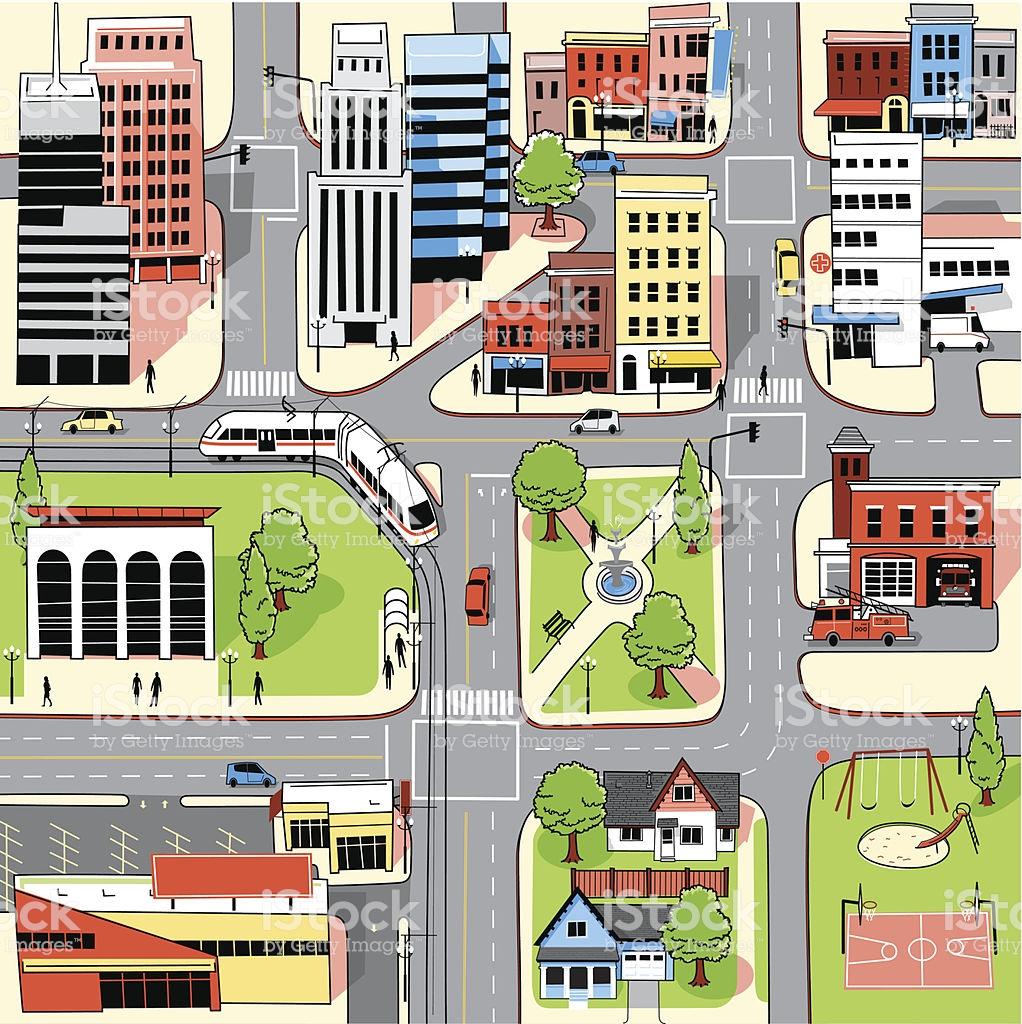 City Map Stock Illustration.
