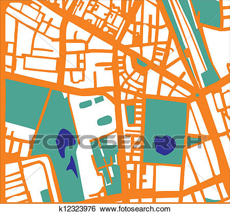 Abstract vector city plan Clip Art.