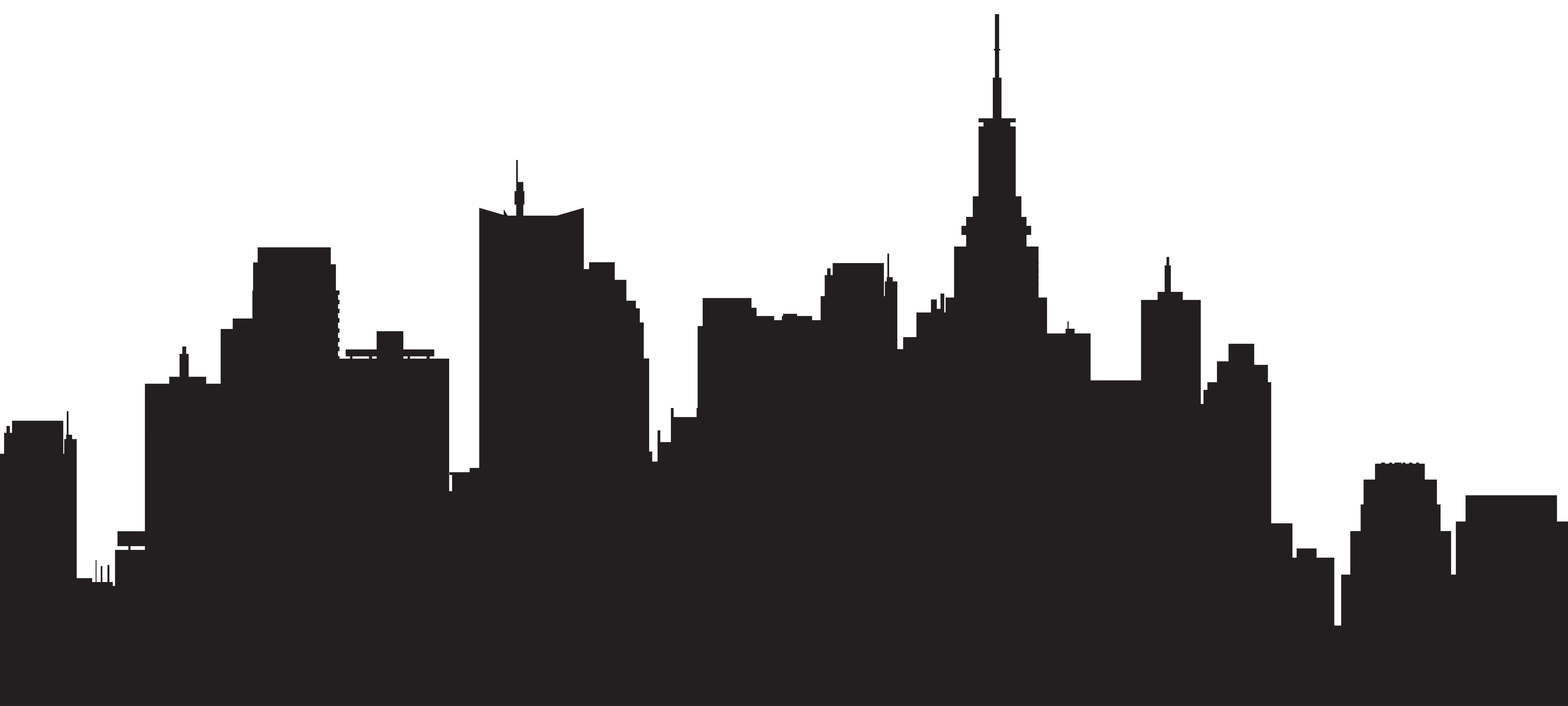 New York City Silhouette Skyline Clip art.