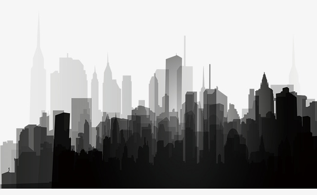 Black And White City PNG Transparent Black And White City.PNG Images.