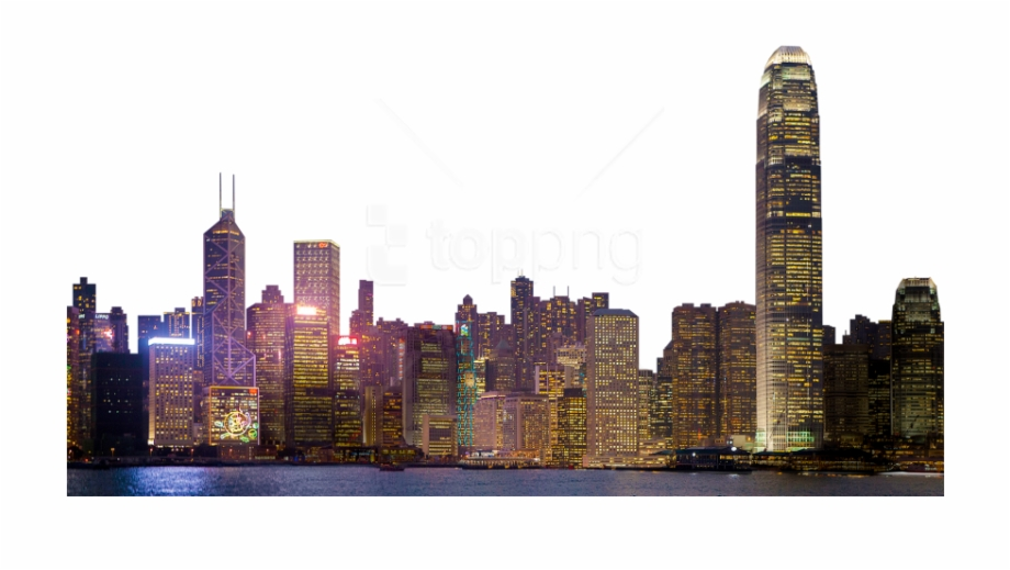 Download City At Night Transparent Background.
