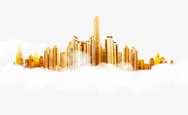 Golden City Hd Free Cloud Pull Material, The Cloud, Cloud, City PNG.
