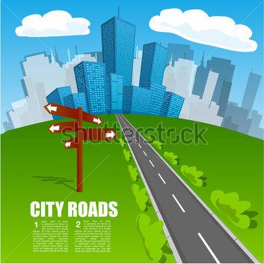 Clipart City Road.