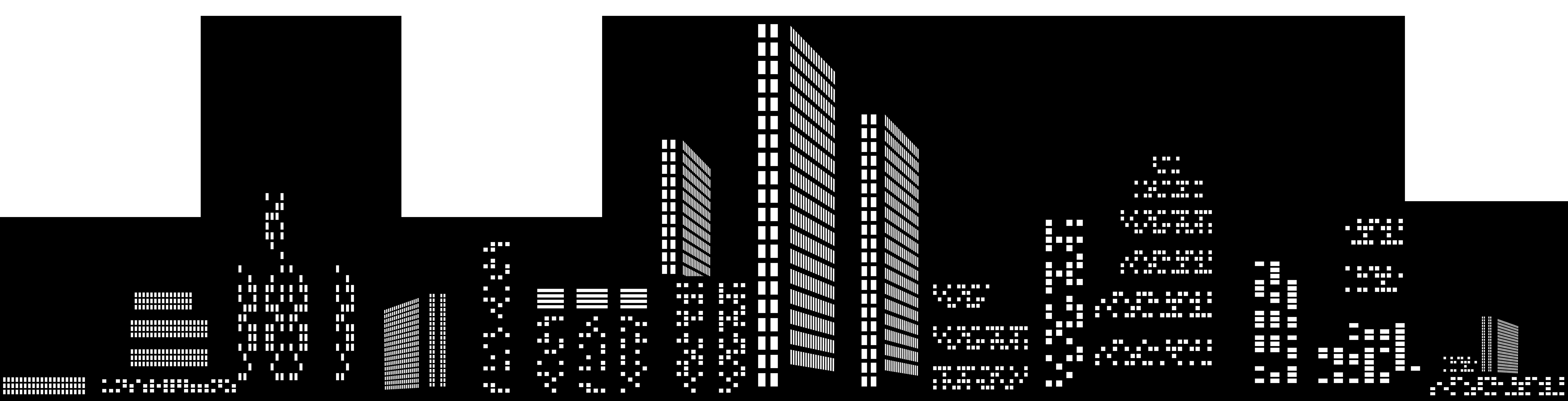 Cityscape Silhouette Clip Art PNG Image.