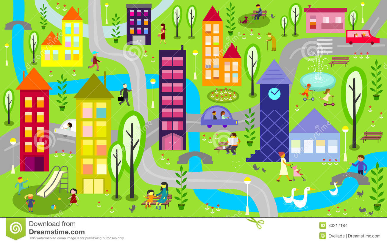 City Scene Clipart.