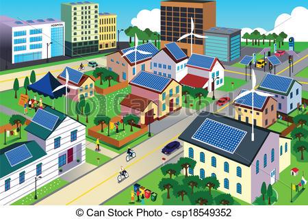 City Scene Clip Art.