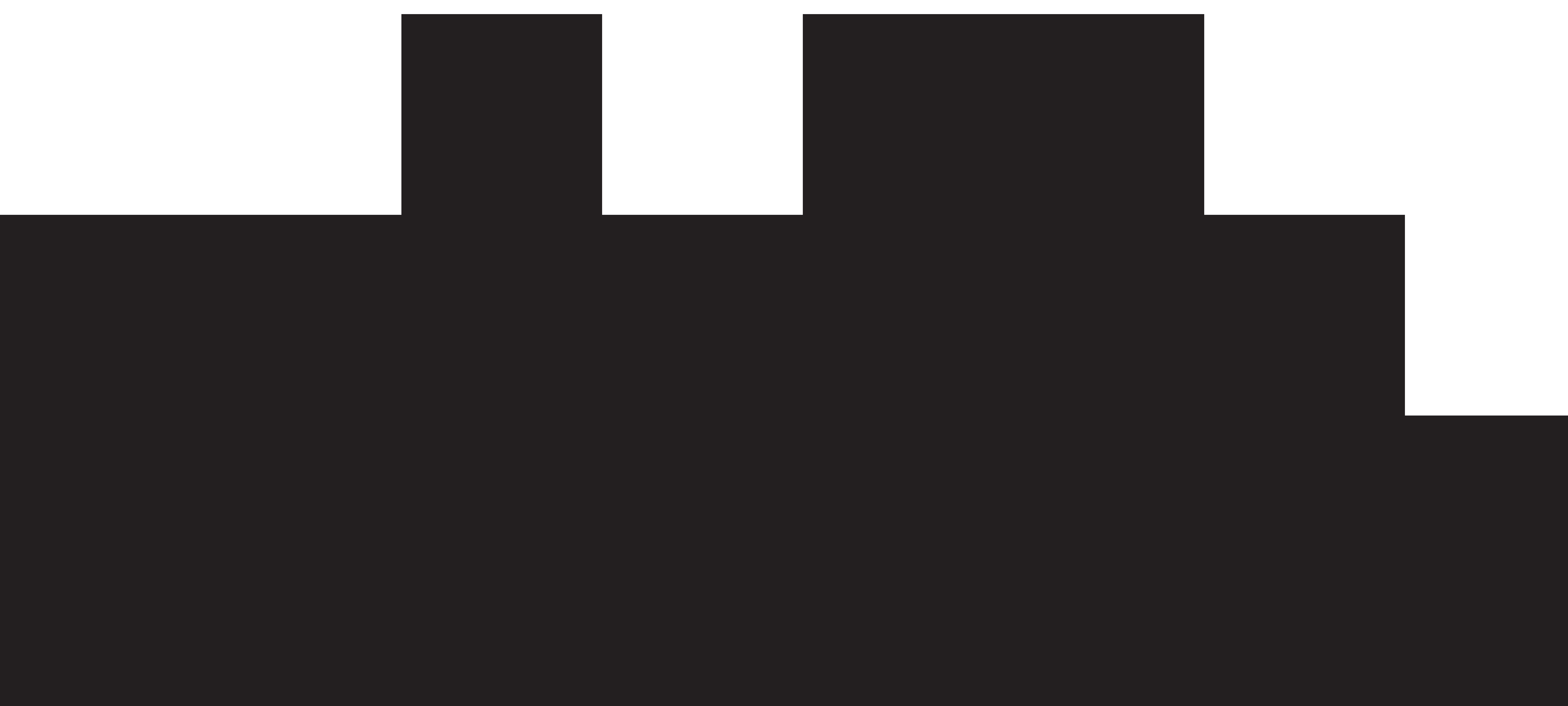 Big City Silhouette PNG Clip Art.