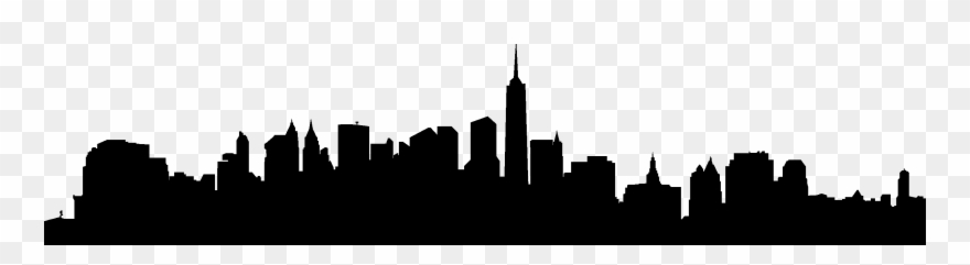 City Skyline Silhouette 02 Vector Eps Free Download,.