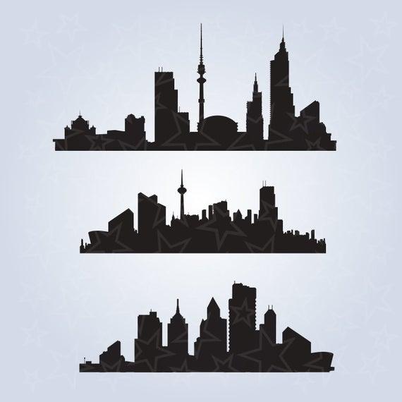 City silhouette, city skyline, building SVG, silhouette, city SVG, Urban  skyline clipart, city skyscrapers png, city skyline SVG.