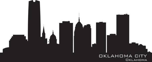 Oklahoma City Skyline Illustrations, Royalty.