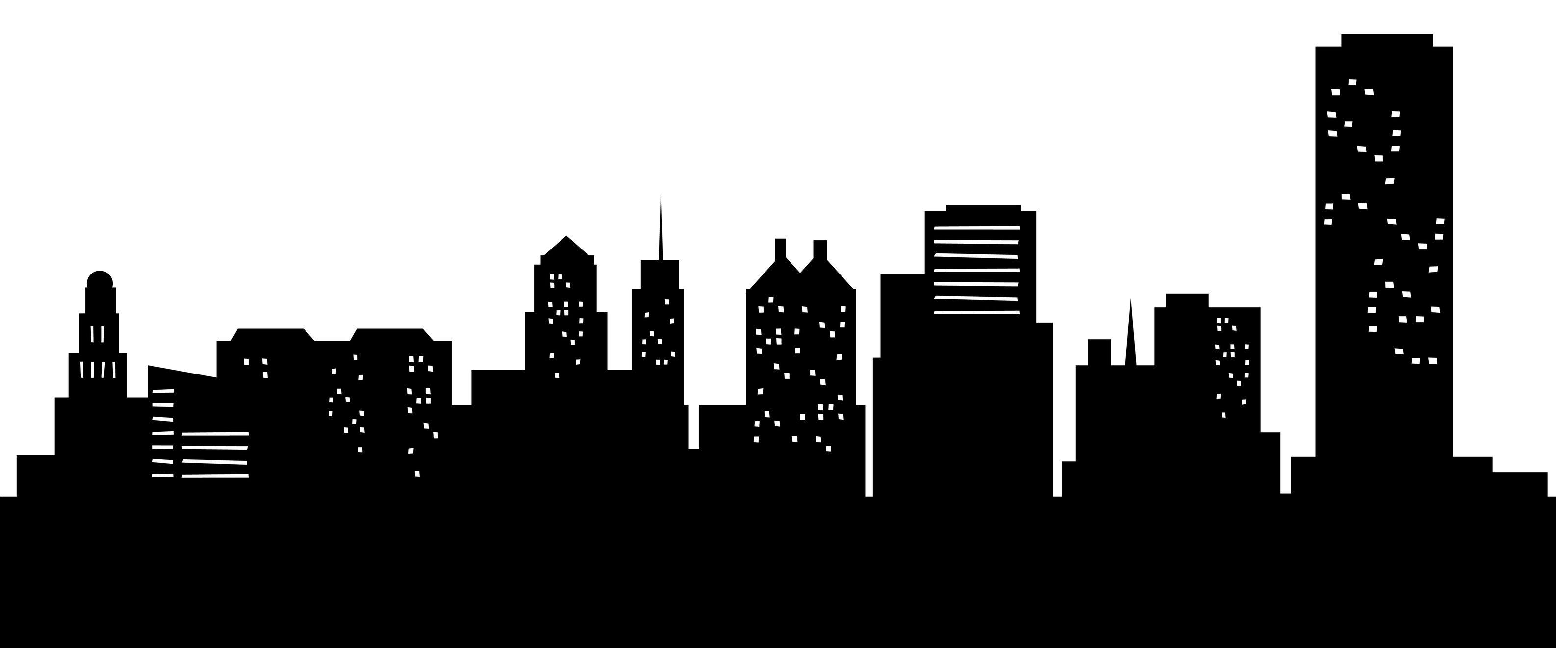 Free City Skyline Silhouette, Download Free Clip Art, Free Clip Art.