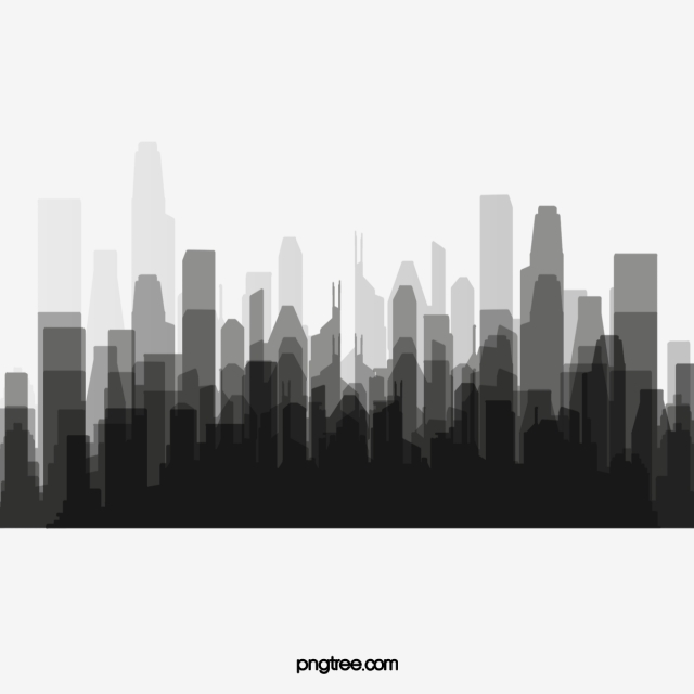 City Silhouette PNG Images.